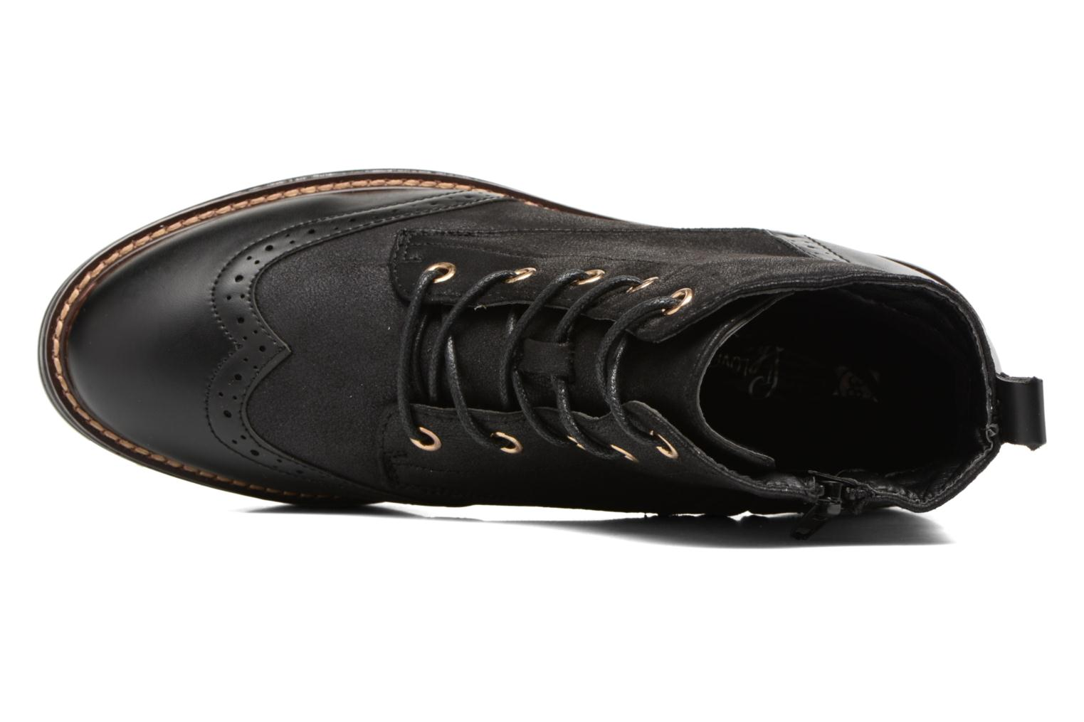 Lace-up shoes I Love Shoes THASETO Black view from the left