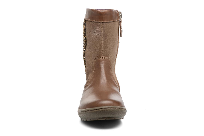 Bottes Gioseppo Chilton Marron vue portées chaussures