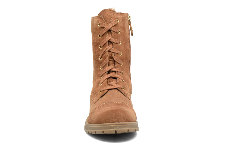 Bottes Gioseppo Fargo Marron vue portées chaussures