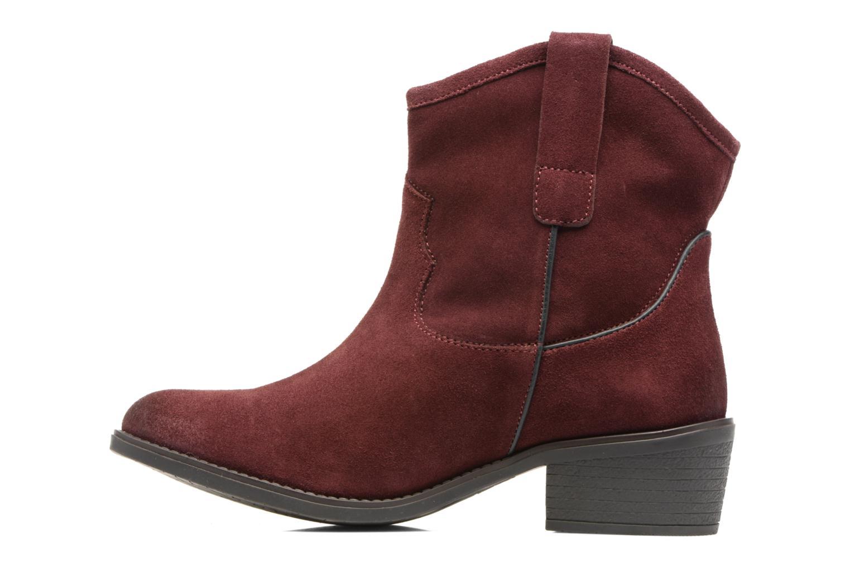 Bottines et boots Gioseppo Bastrop Bordeaux vue face