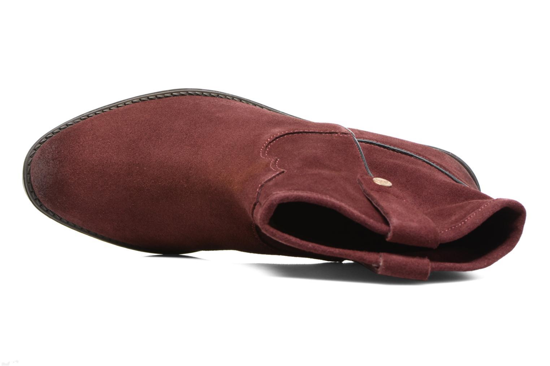 Bottines et boots Gioseppo Bastrop Bordeaux vue gauche