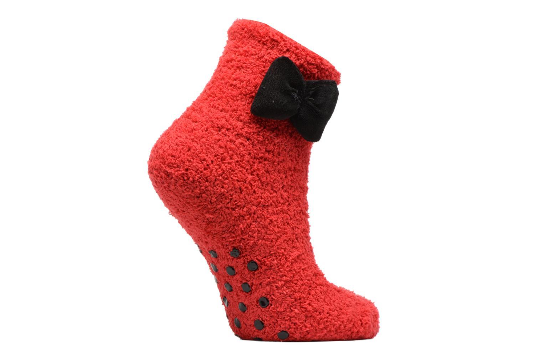 Chaussettes et collants Sarenza Wear Chaussons Chaussette Femme Antidérapantes Nœud Rouge vue détail/paire