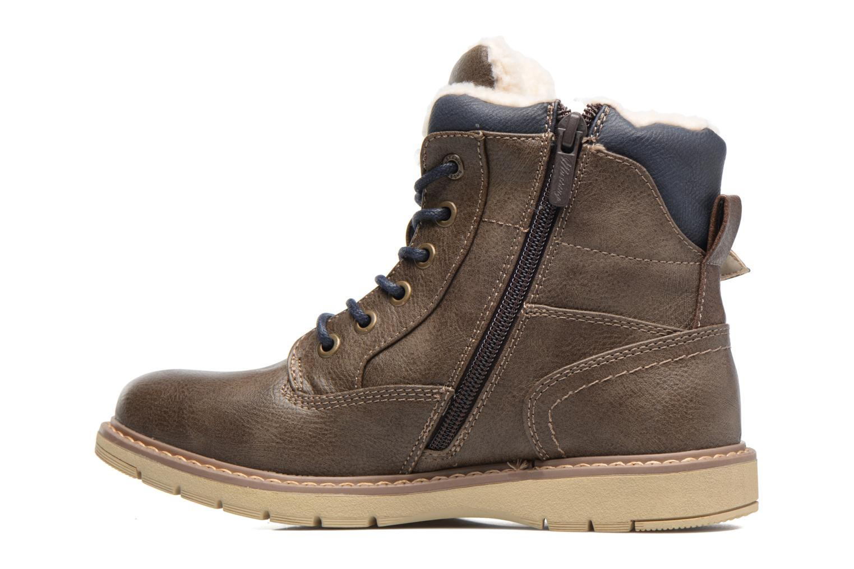 Bottines et boots Mustang shoes Didi Marron vue face