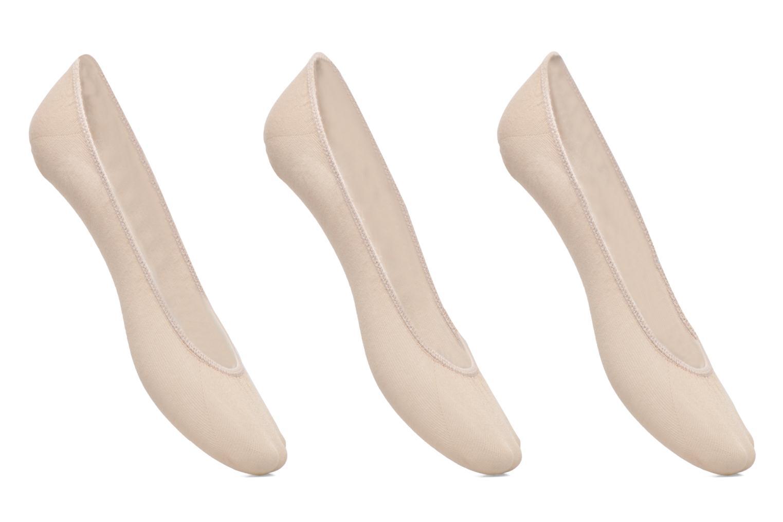 Chaussettes et collants Dim Protège bas coton Lot de 3 Beige vue détail/paire