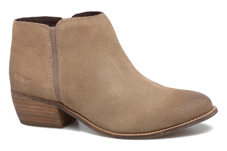 Bottines et boots Kickers Booty Beige vue détail/paire