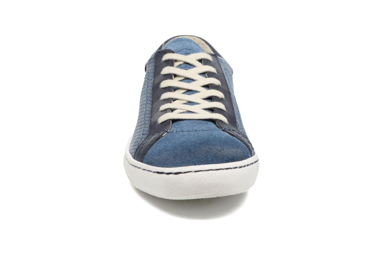 Baskets Kickers Real Bleu vue portées chaussures