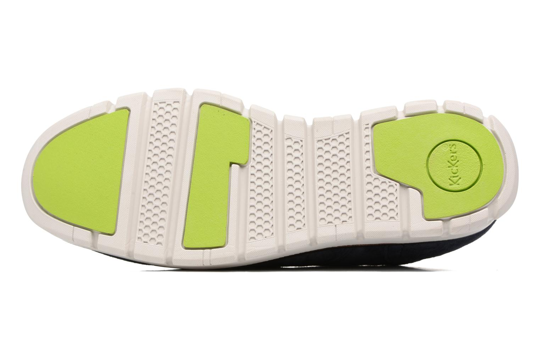 Chaussures à lacets Kickers Kick Low Sport Bleu vue haut