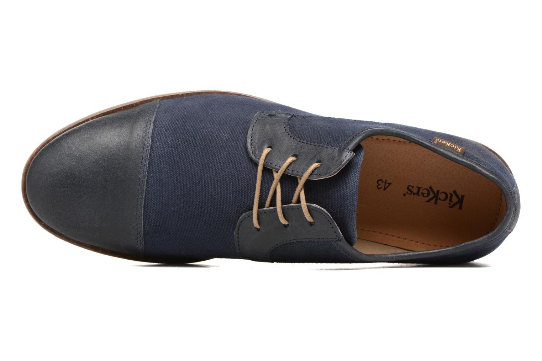 Chaussures à lacets Kickers Flamas Bleu vue gauche