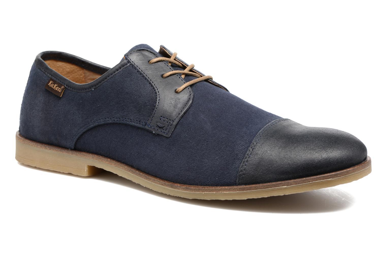 Chaussures à lacets Kickers Flamas Bleu vue détail/paire