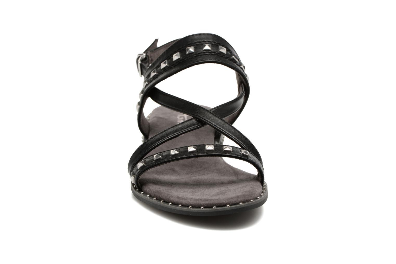 Sandales et nu-pieds Tamaris Aline Noir vue portées chaussures