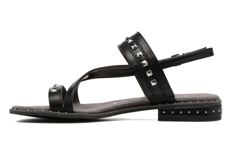 Sandales et nu-pieds Tamaris Aline Noir vue face
