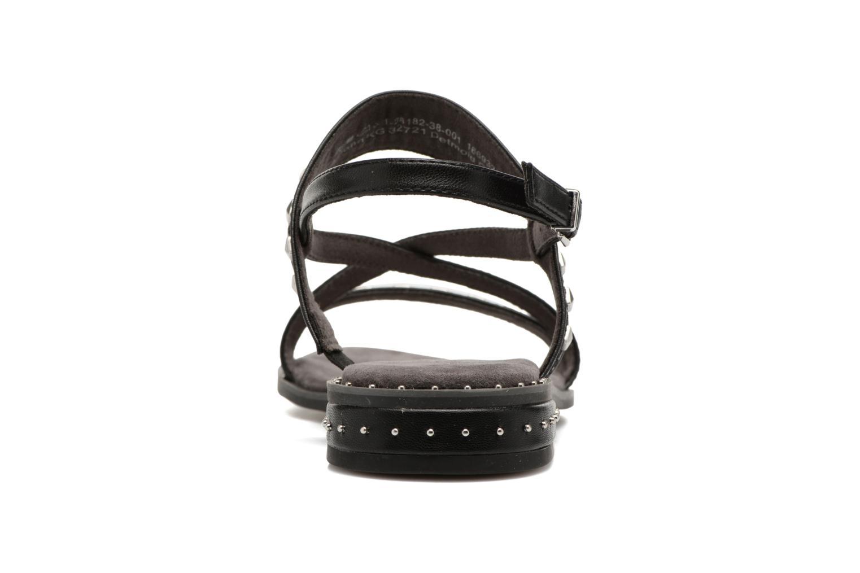 Sandales et nu-pieds Tamaris Aline Noir vue droite