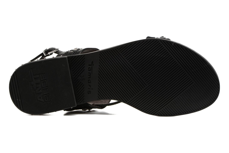 Sandales et nu-pieds Tamaris Aline Noir vue haut