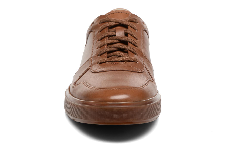 Baskets Clarks Calderon Speed Marron vue portées chaussures