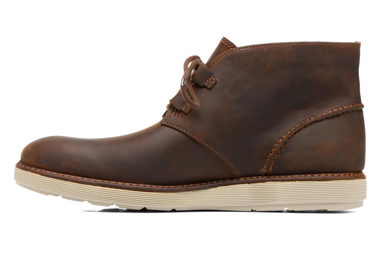 Bottines et boots Clarks Fayeman Hi Marron vue face