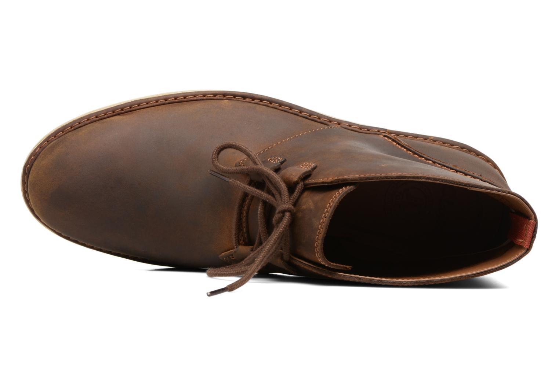 Bottines et boots Clarks Fayeman Hi Marron vue gauche