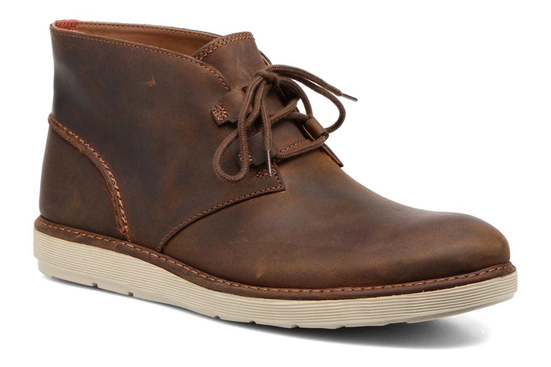 Bottines et boots Clarks Fayeman Hi Marron vue détail/paire