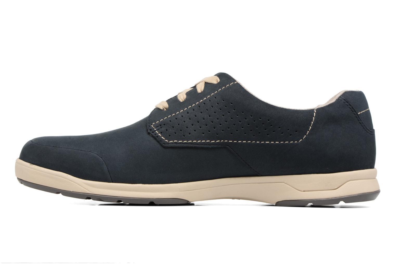 Chaussures à lacets Clarks Stafford Plan Bleu vue face