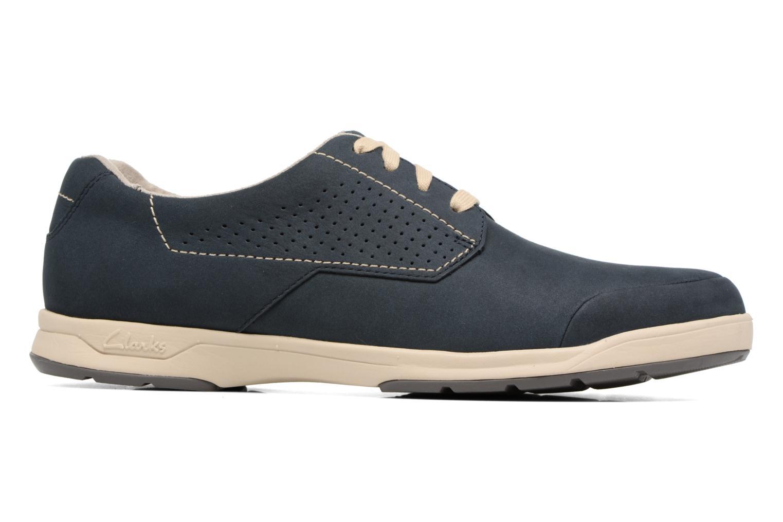Chaussures à lacets Clarks Stafford Plan Bleu vue derrière