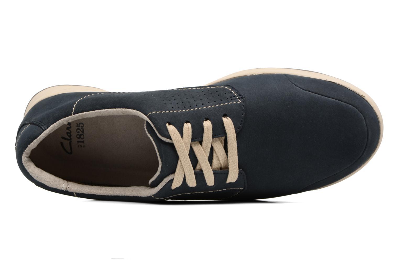 Chaussures à lacets Clarks Stafford Plan Bleu vue gauche