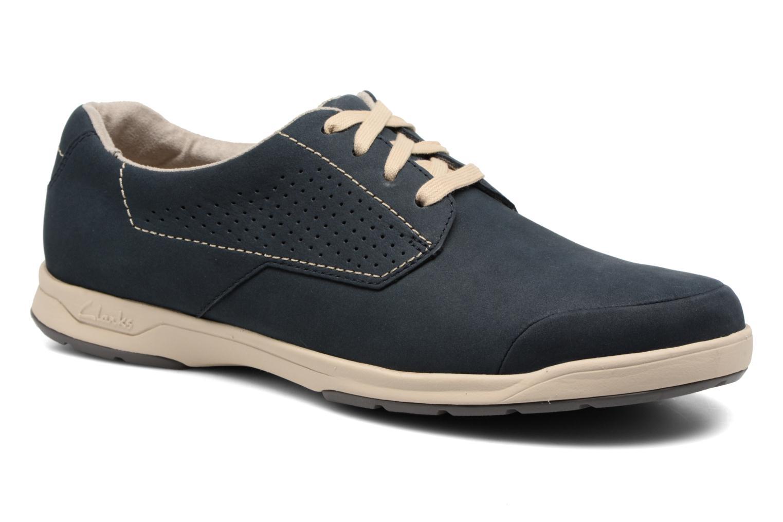 Chaussures à lacets Clarks Stafford Plan Bleu vue détail/paire