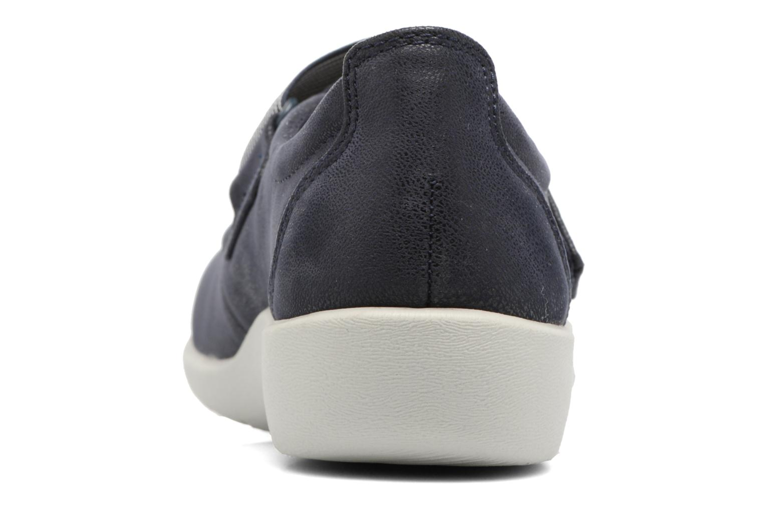Ballet pumps Clarks Sillian Cala Blue view from the right