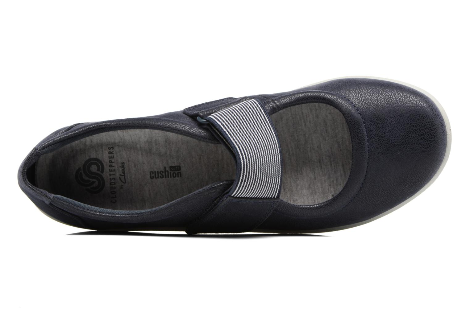 Ballet pumps Clarks Sillian Cala Blue view from the left