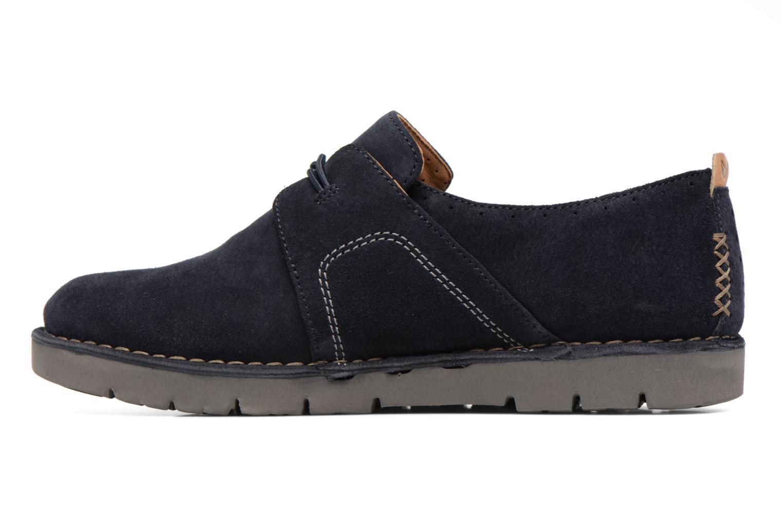 Chaussures à lacets Clarks Un Ava Bleu vue face