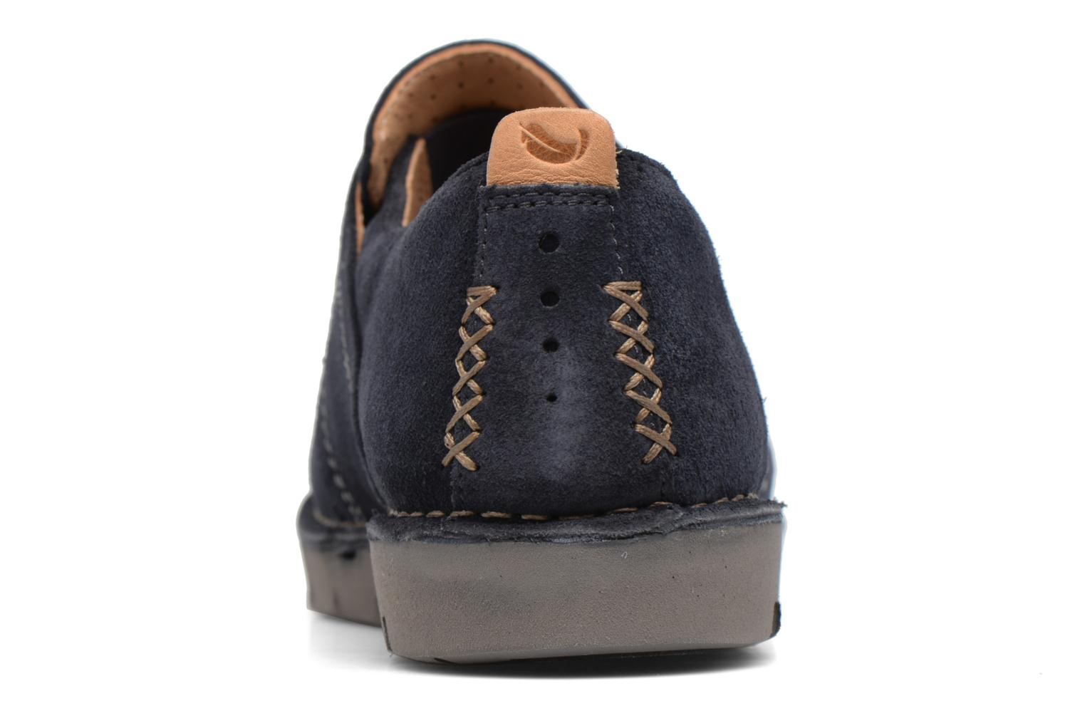 Lace-up shoes Clarks Un Ava Blue view from the right