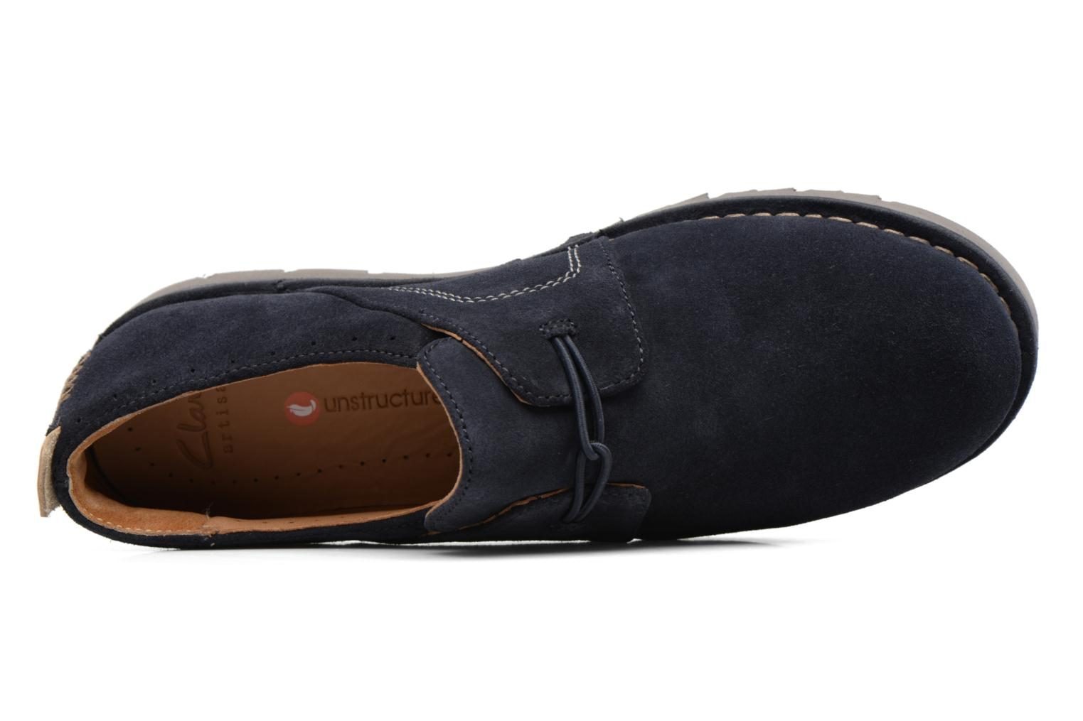 Lace-up shoes Clarks Un Ava Blue view from the left