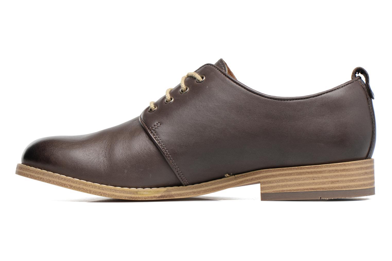 Chaussures à lacets Clarks Zyris Toledo Gris vue face