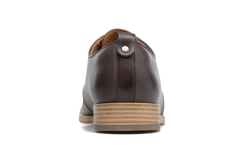 Chaussures à lacets Clarks Zyris Toledo Gris vue droite