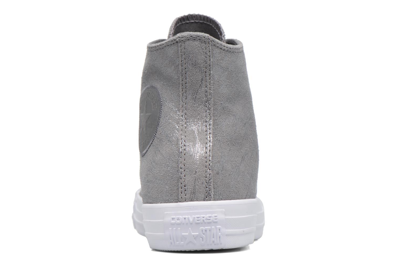Sneakers Converse Chuck Taylor All Star Shimmer Suede Hi Grigio immagine destra