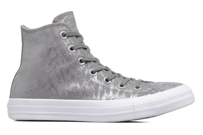 Sneaker Converse Chuck Taylor All Star Shimmer Suede Hi grau ansicht von hinten