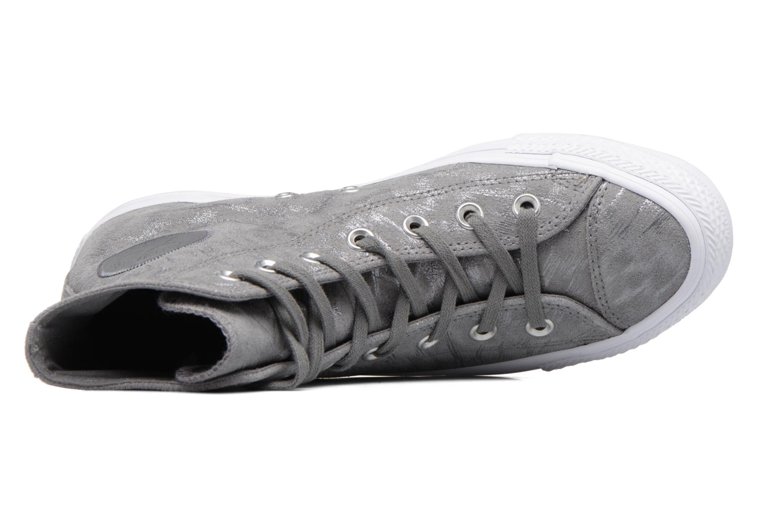 Sneakers Converse Chuck Taylor All Star Shimmer Suede Hi Grigio immagine sinistra