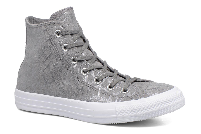 Sneakers Converse Chuck Taylor All Star Shimmer Suede Hi Grigio vedi dettaglio/paio
