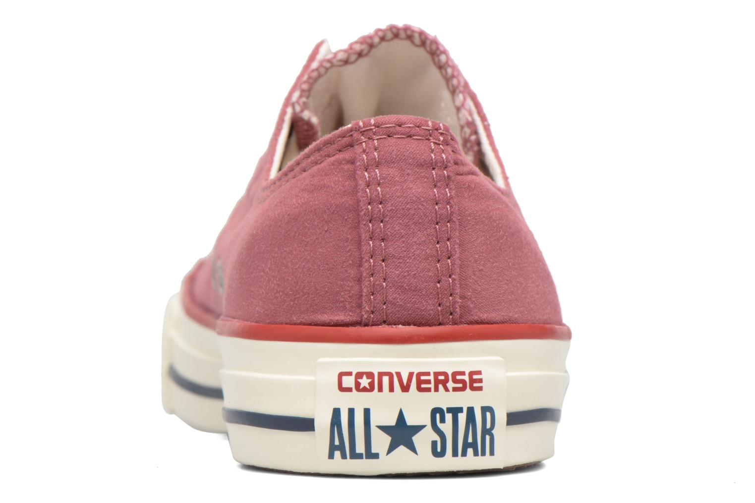 Baskets Converse Chuck Taylor All Star Ombre Wash Ox W Rose vue droite