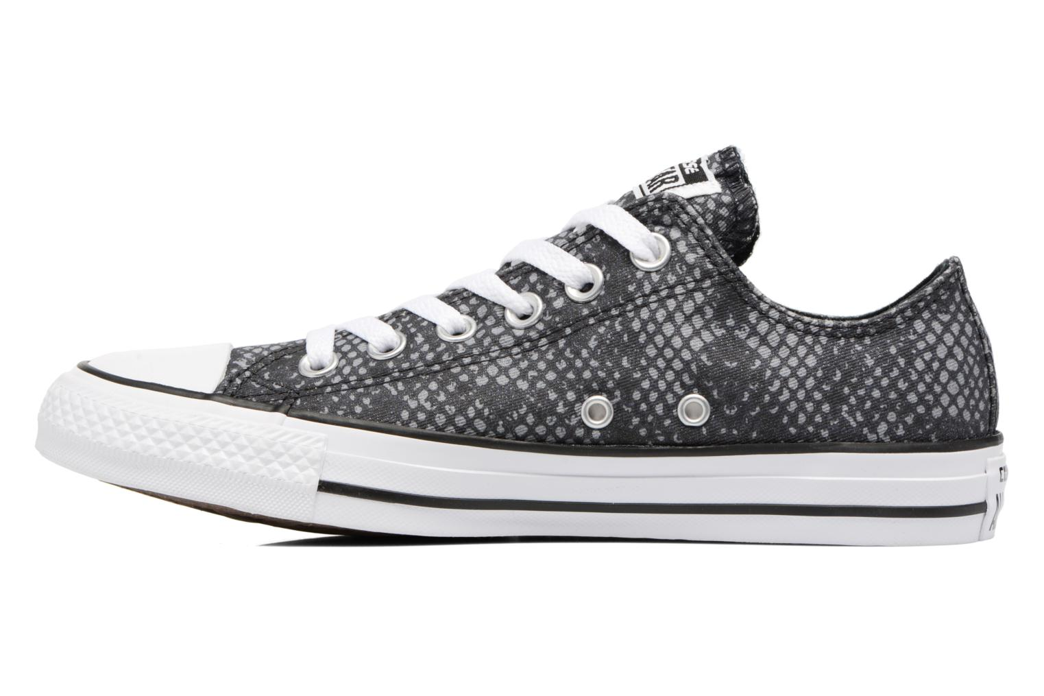 Sneakers Converse Chuck Taylor All Star Lurex Snake Ox Grijs voorkant