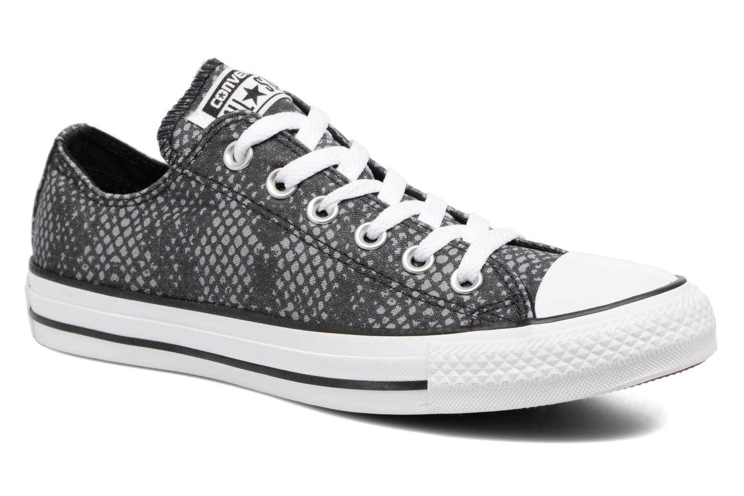 Sneakers Converse Chuck Taylor All Star Lurex Snake Ox Grijs detail