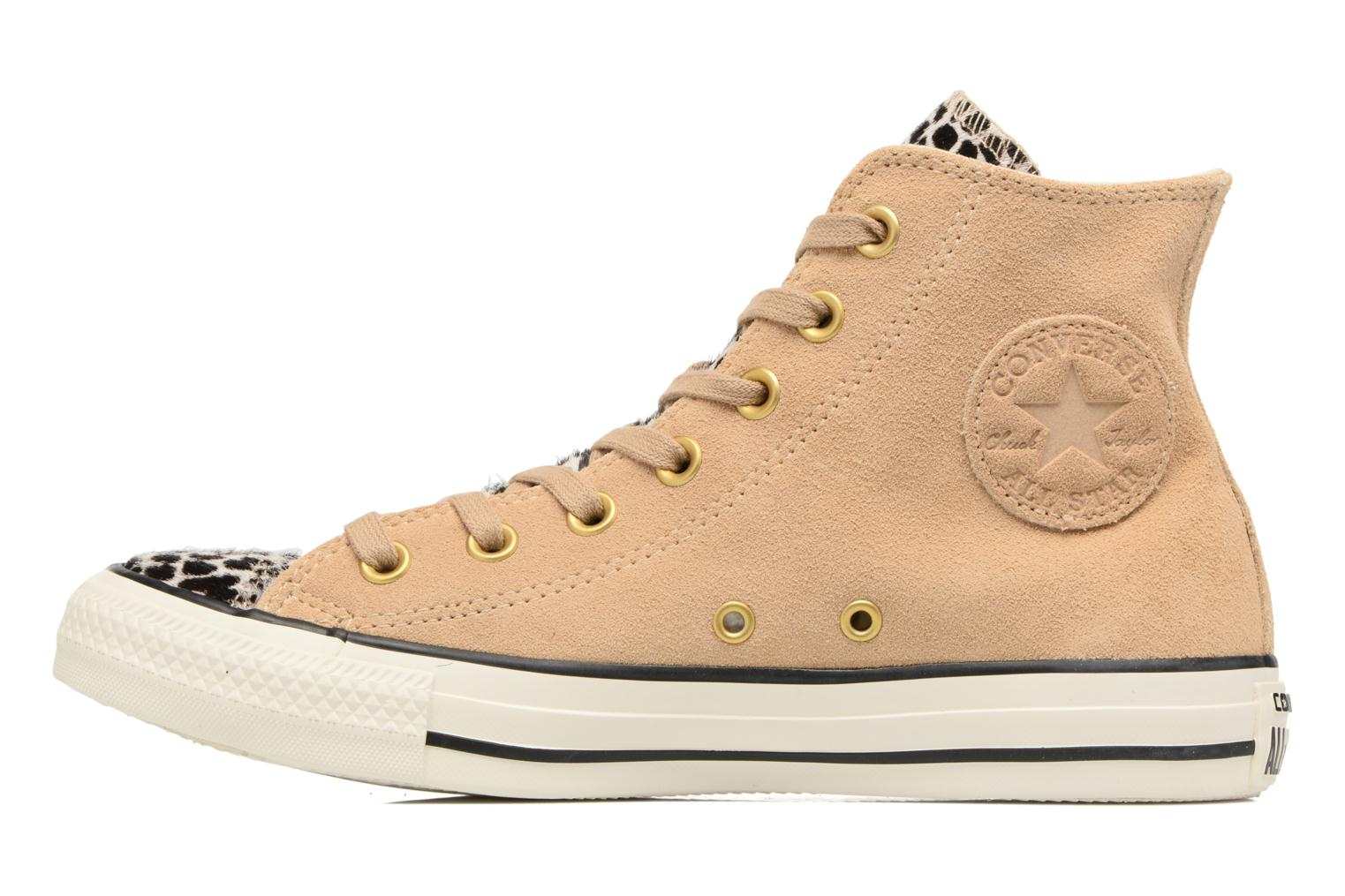 Baskets Converse Chuck Taylor All Star Pony Hair Hi Beige vue face