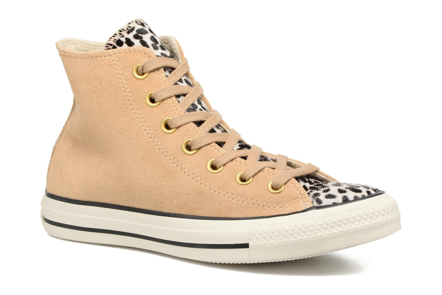 Converse Chuck Taylor All Star Pony Hair Hi (Beige) - Baskets chez Sarenza (310680)
