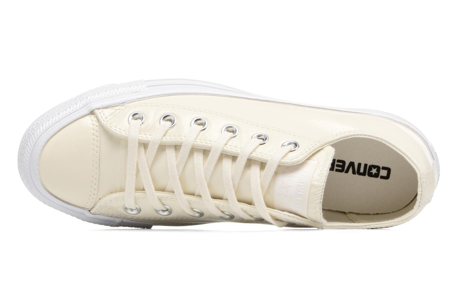 Baskets Converse Chuck Taylor All Star Crinkled Patent Leather Ox Blanc vue gauche