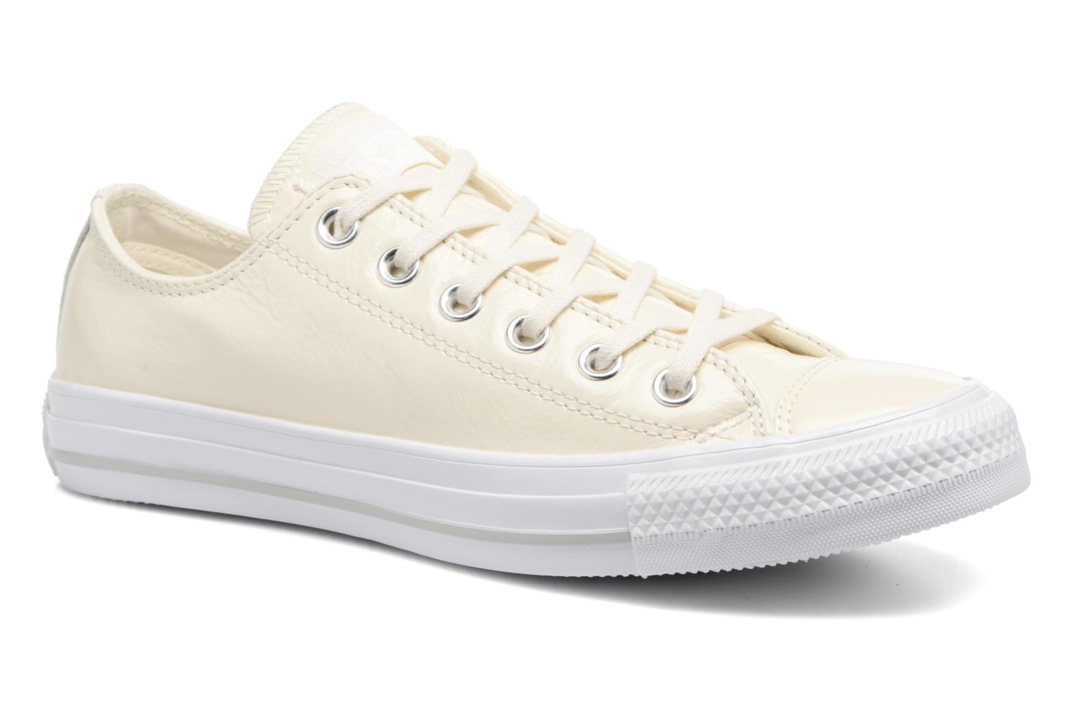 Converse Chuck Taylor All Star Crinkled Patent Leather Ox (Blanc) - Baskets chez Sarenza (310698)