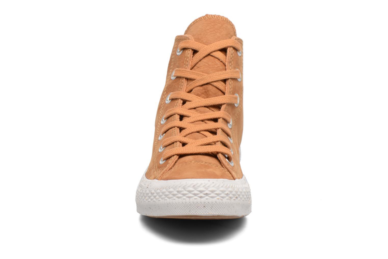 Baskets Converse Chuck Taylor All Star Nubuck Hi W Marron vue portées chaussures