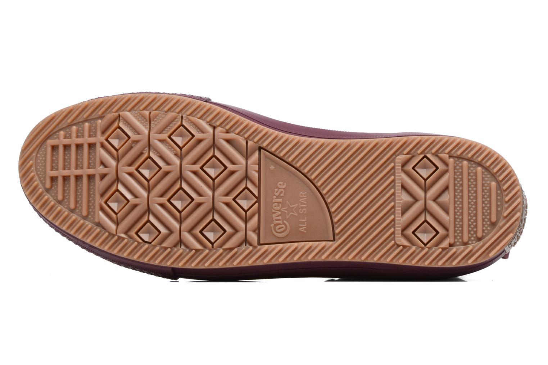 Sneakers Converse Chuck Taylor WP Boot Nubuck Hi Bordeaux boven