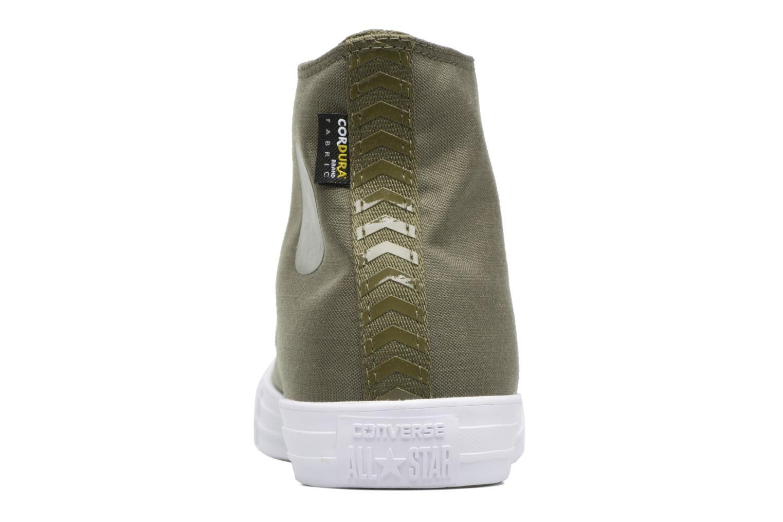 Sneaker Converse Chuck Taylor All Star Cordura Hi grün ansicht von rechts