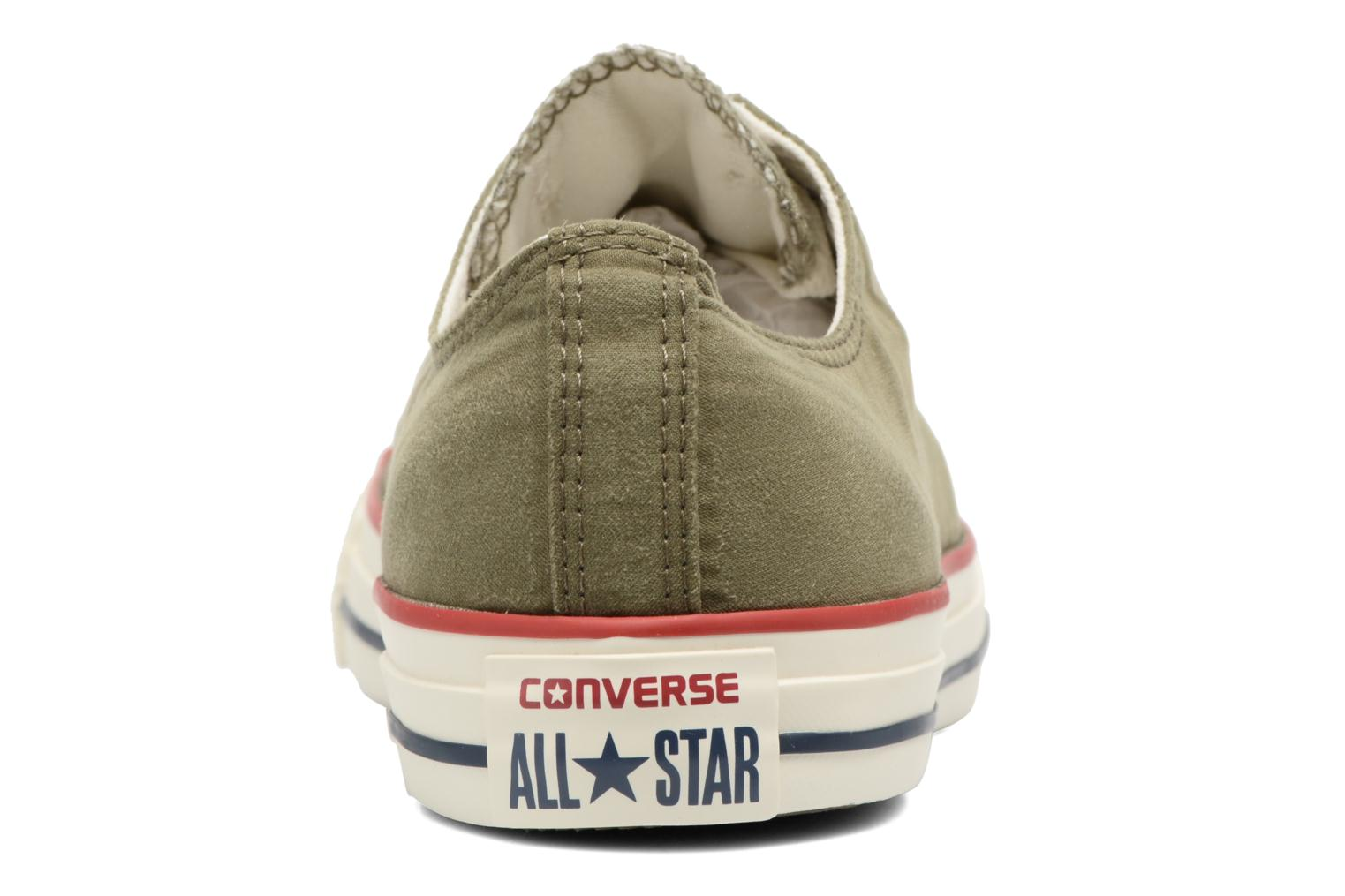 Baskets Converse Chuck Taylor All Star Ombre Wash Ox M Vert vue droite