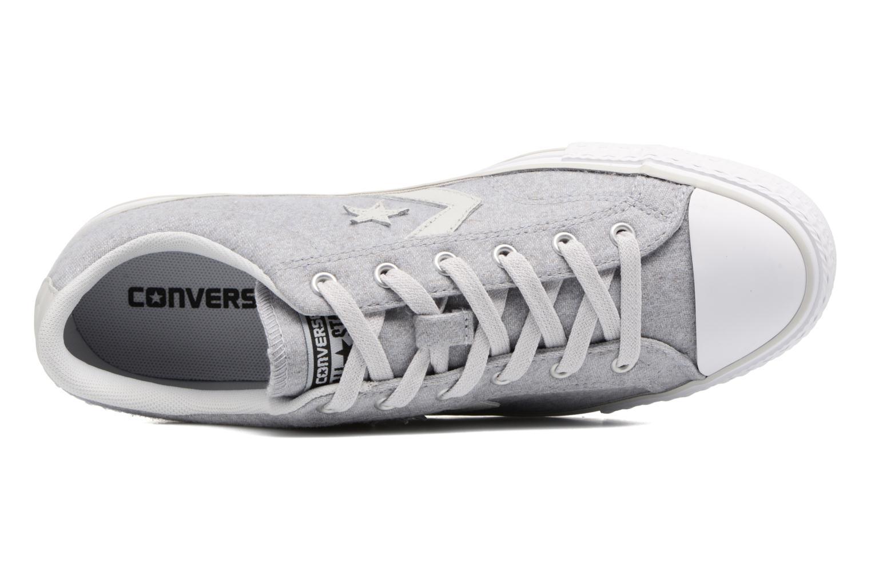 Sneaker Converse Star Player Textile Ox grau ansicht von links