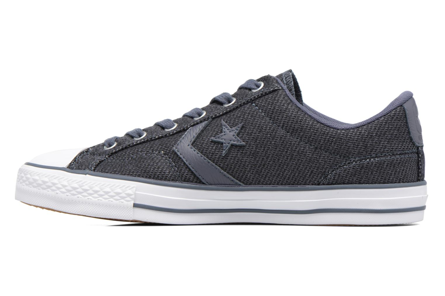 Baskets Converse Star Player 3 Color Herringbone Ox Gris vue face