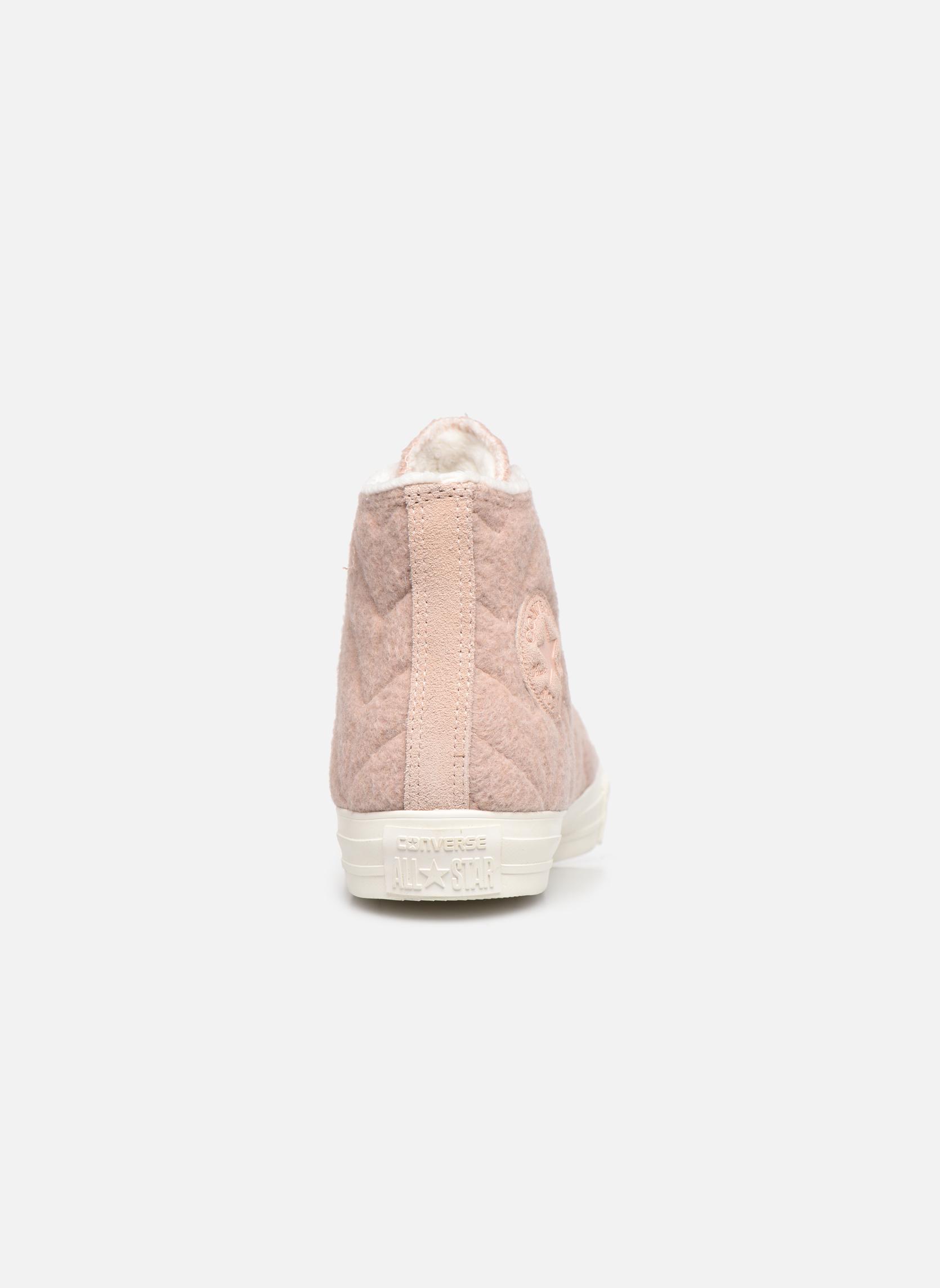 Sneakers Converse Chuck Taylor All Star Wool Hi Roze rechts